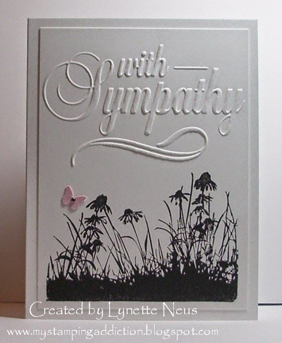 "My Stamping Addiction: Simple Sympathy (Darice ""With Sympathy"" embossing folder)"