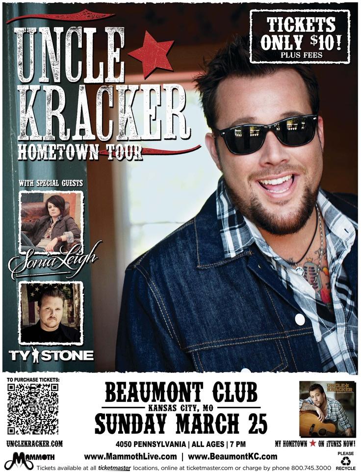 Uncle Kracker -  Kansas City  March 25, 2012  http://beaumontkc.com/