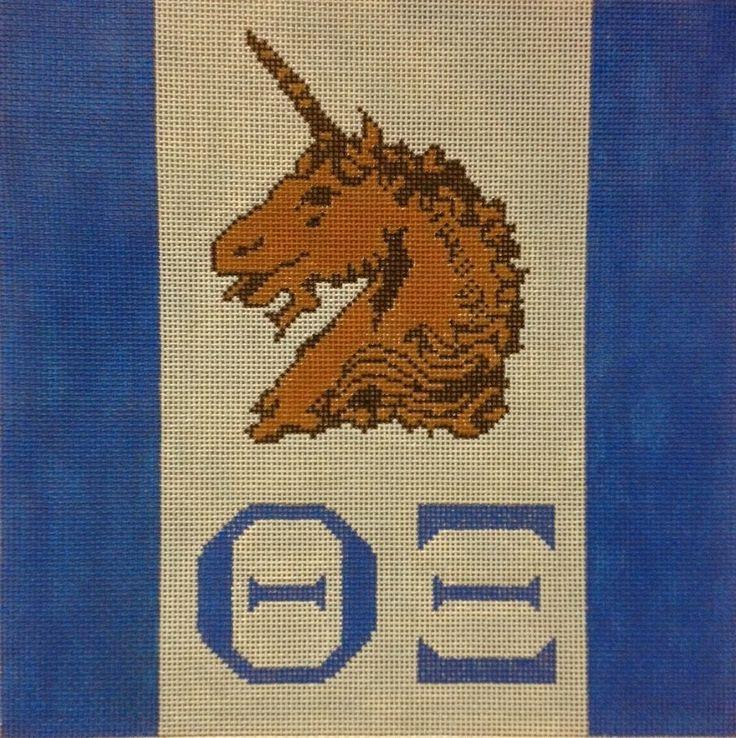 Theta XI Fraternity Hand Painted Needlepoint Canvas | eBay