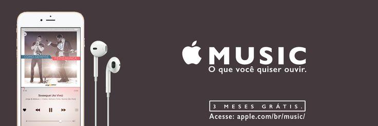 Campanha: Apple Music - O que você quiser ouvir.  Peça: Jorge e Matheus.  Outdoor.