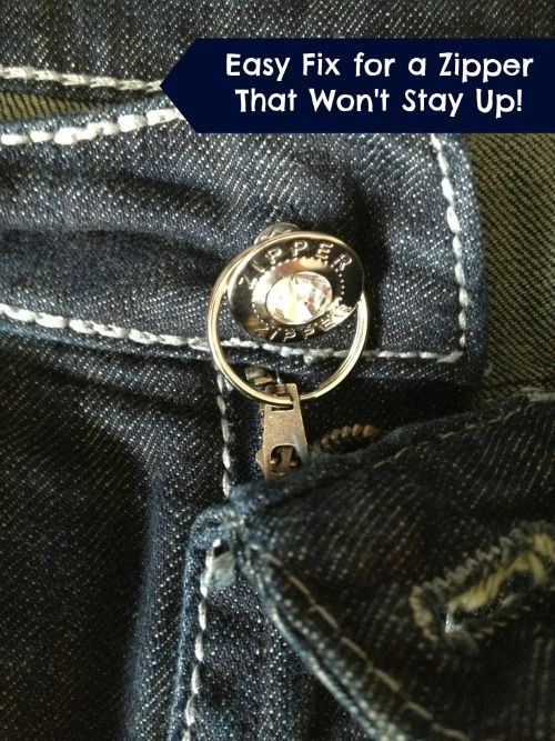 how to fix a metal zipper that won 39 t stay up zippers. Black Bedroom Furniture Sets. Home Design Ideas