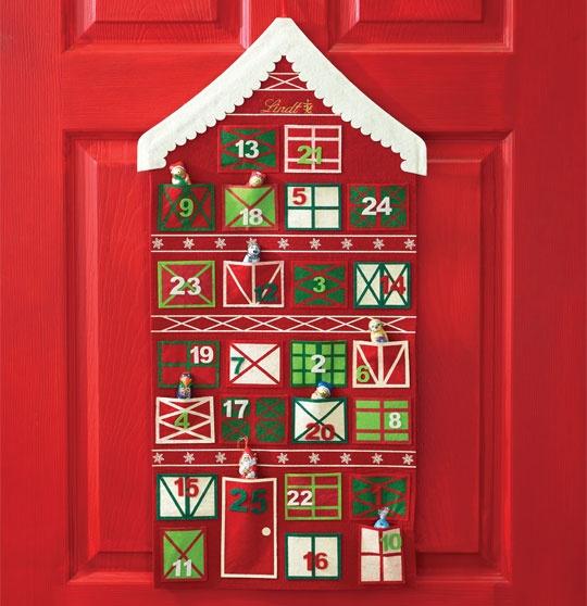 Lindt's Advent Calendar - Little Chocolates tucked into each pocket, how cute!