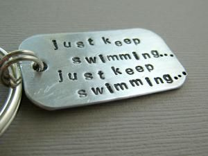i want this!Military Spouse, Hands Stamps, Keep Swimming, Keys, Quote, Stamps Keychains, Military Wife, Life Mottos, Finding Nemo