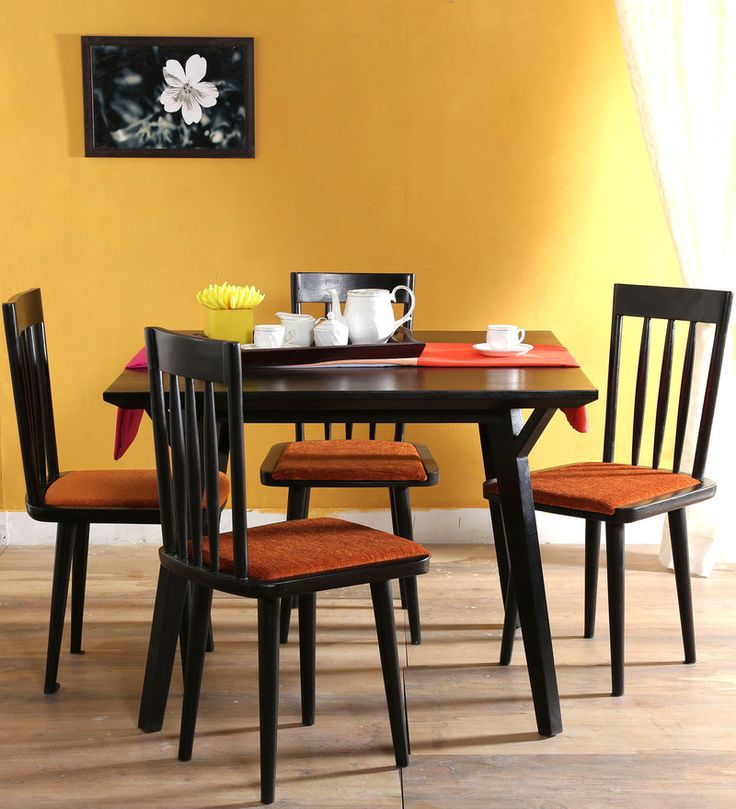Buy Brigida Four Seater Dining Set in Espresso Walnut Finish by Woodsworth  Online: Shop from wide range of Dining Sets Online in India at best prices. ✔Free Shipping✔Easy EMI✔Easy Returns