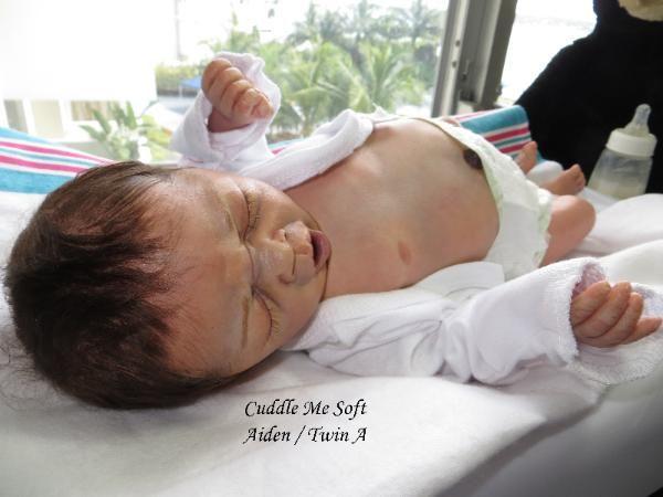 Sold/ Adopted - Reborn Baby Boy by Fay O'Neal - www.cuddlemesoft.com