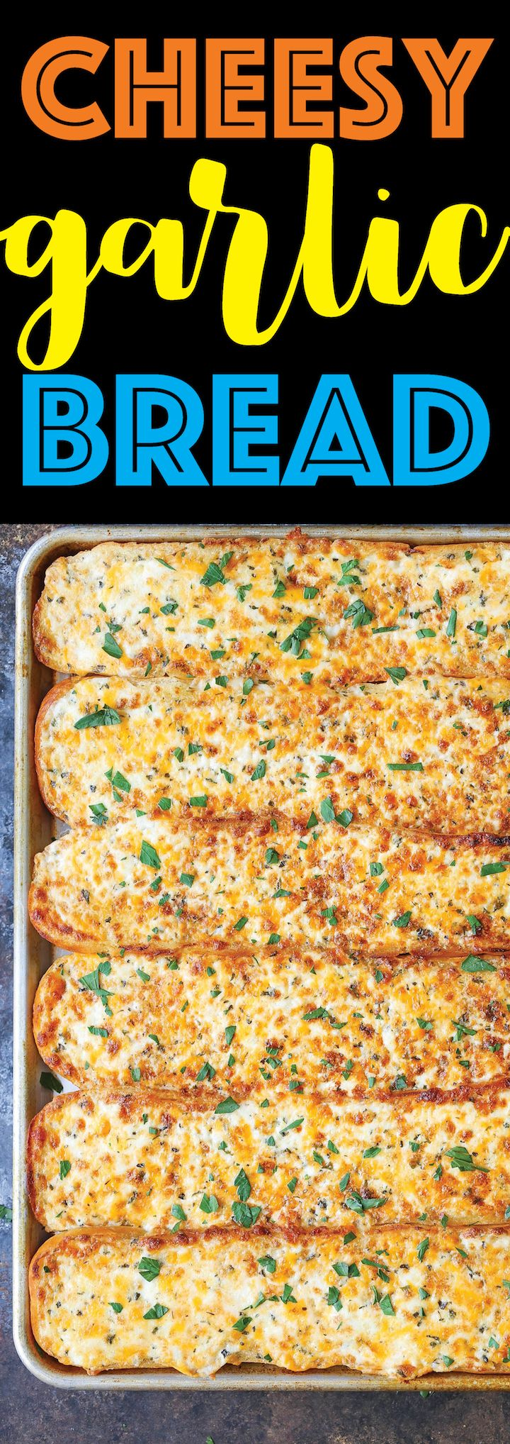 Cheesy Garlic Bread - One bite of this and everyone will beg you to make this again and again! So cheesy, so ooey gooey and so melt-in-your-mouth AH-MAZING! #BakedProud #ad