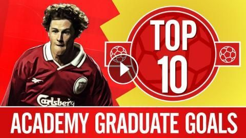 Top 10: Great goals from Liverpool's academy graduates | Gerrard, Fowler,: After Ben Woodburn scored his first goal for LFC this week, we…