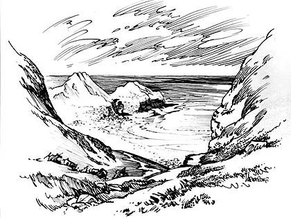 11 best Drawing stones, rocks, mountain images on