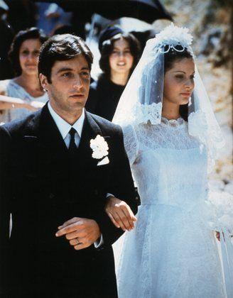 "Titles: The Godfather  Names: Al Pacino, Simonetta Stefanelli  Characters: Michael Corleone, Apollonia Vitelli-Corleone, Don Michael Corleone  ""The Godfather"" Al Pacino, Simonetta Stefanelli 1972 Paramount Pictures"