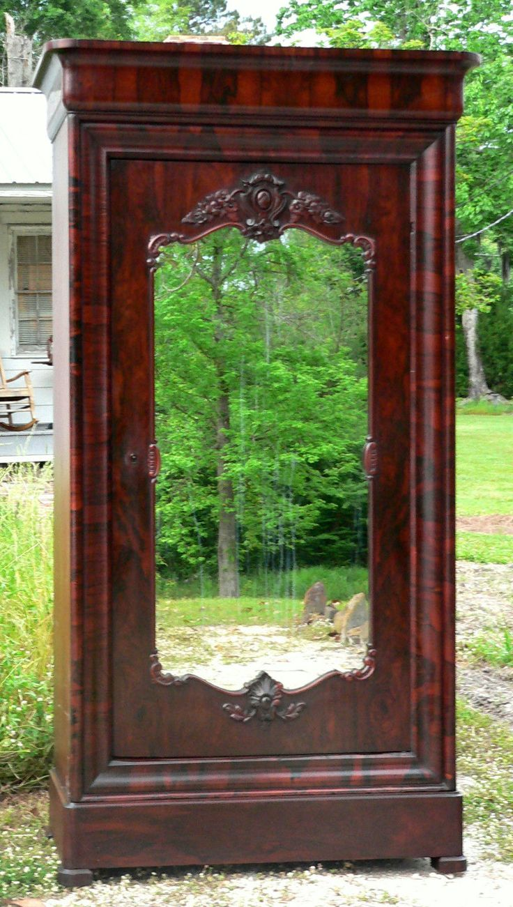 C1850 rococo single door armoire wardrobe jh belter nyc for Armoire new york city