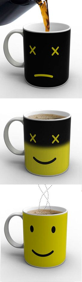 Monday morning is hard to swallow. Whet your appetite with the Monday Mug, a playful porcelain coffee cup that actually perks up as you do.  $24.00