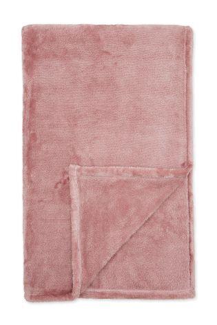 Buy Dusky Pink Super Soft Fleece Throw from the Next UK online shop