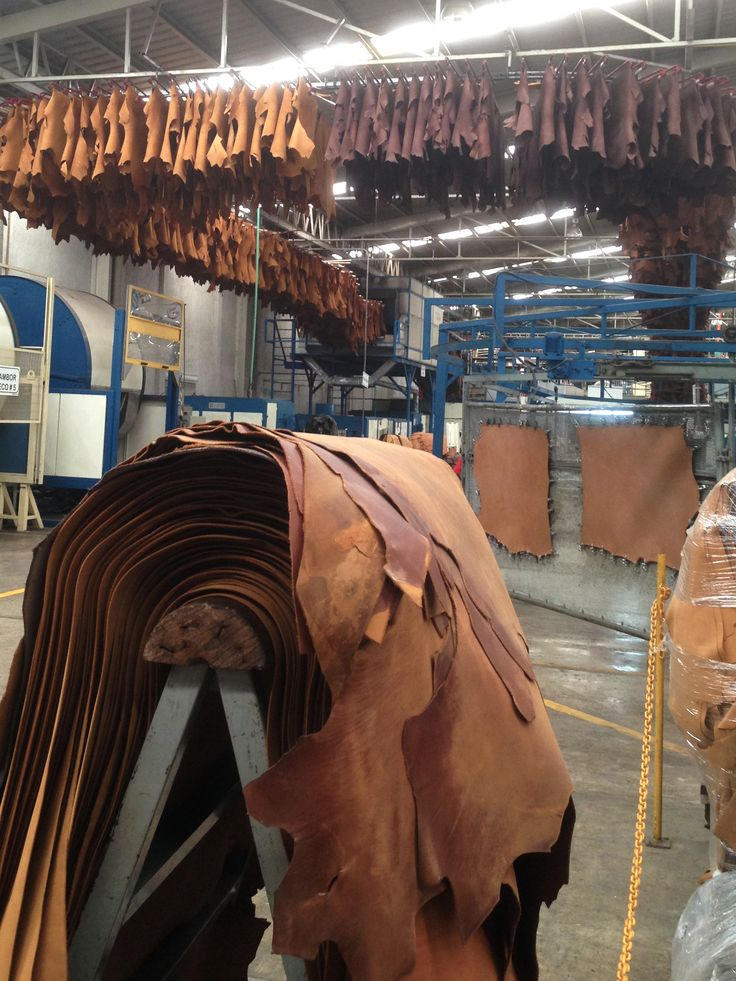 Cowboysbag - We love the smell of leather when entering the factory, after tanning the hides are drying to become a flexible form