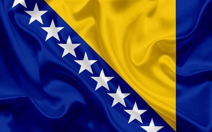 Download wallpapers Bosnia and Herzegovina Flag, Europe, Bosnian flag