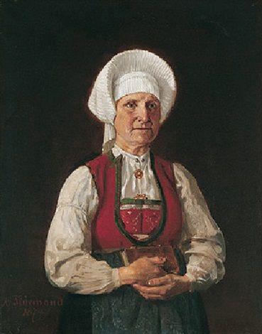 Ragnild sjursdotter oystese by Adolph Tidemand