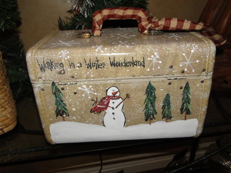 winter wonderland/ My mom used to have one of these cases....hummm wonder where it went?