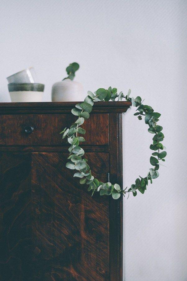 eucalyptus wreath / halo / crown