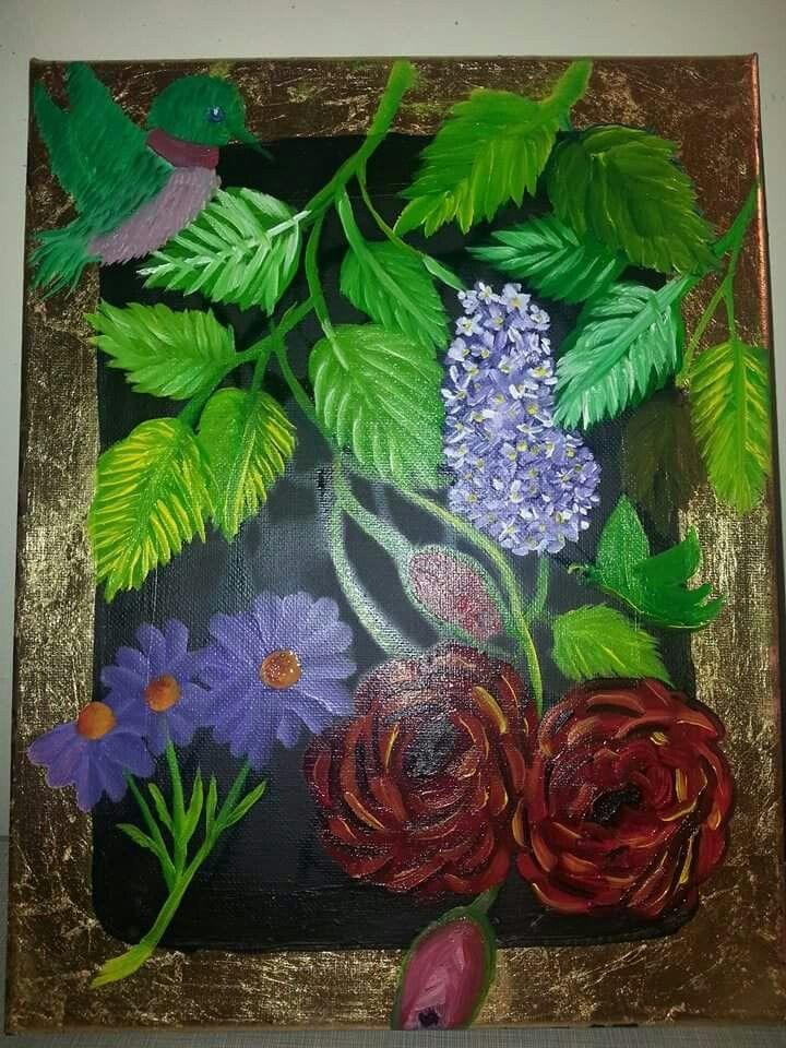 Oil painting for hubby