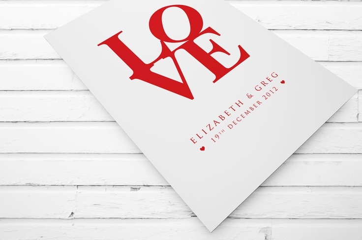 Gorgeous customised Love print for couples. $20.00, www.cocobluecreative.com