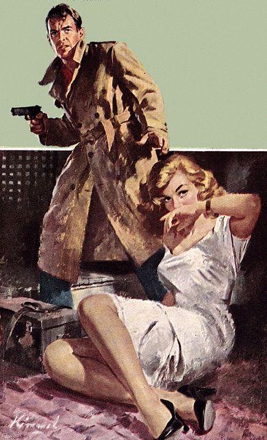 Lu Kimmel Vintage Pulp Art Illustration | Female-Centric Pulp Art | Sugary.Sweet | #Pulp #Art #Illustration