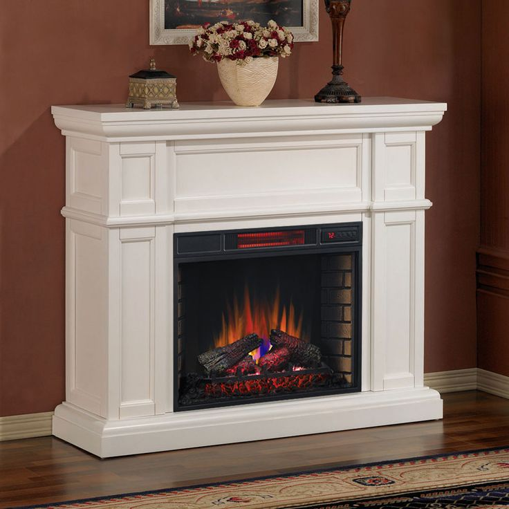 Artesian White Infrared Electric Fireplace Mantel - 28WM426-T401