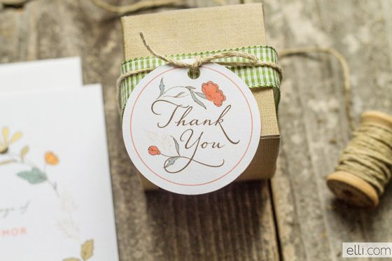Country Floral Thank You Tag Free Printable
