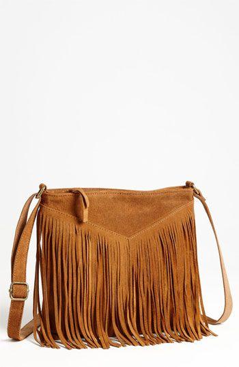 Steve Madden Fringed Suede Crossbody Bag Nordstrom Handbag Heaven Pinterest Bags Handbags And