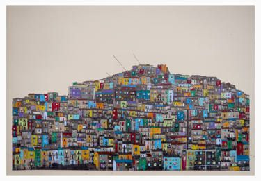 "Saatchi Art Artist Fabio Coruzzi; Printmaking, ""Calitri, South Italy #5"" #art"