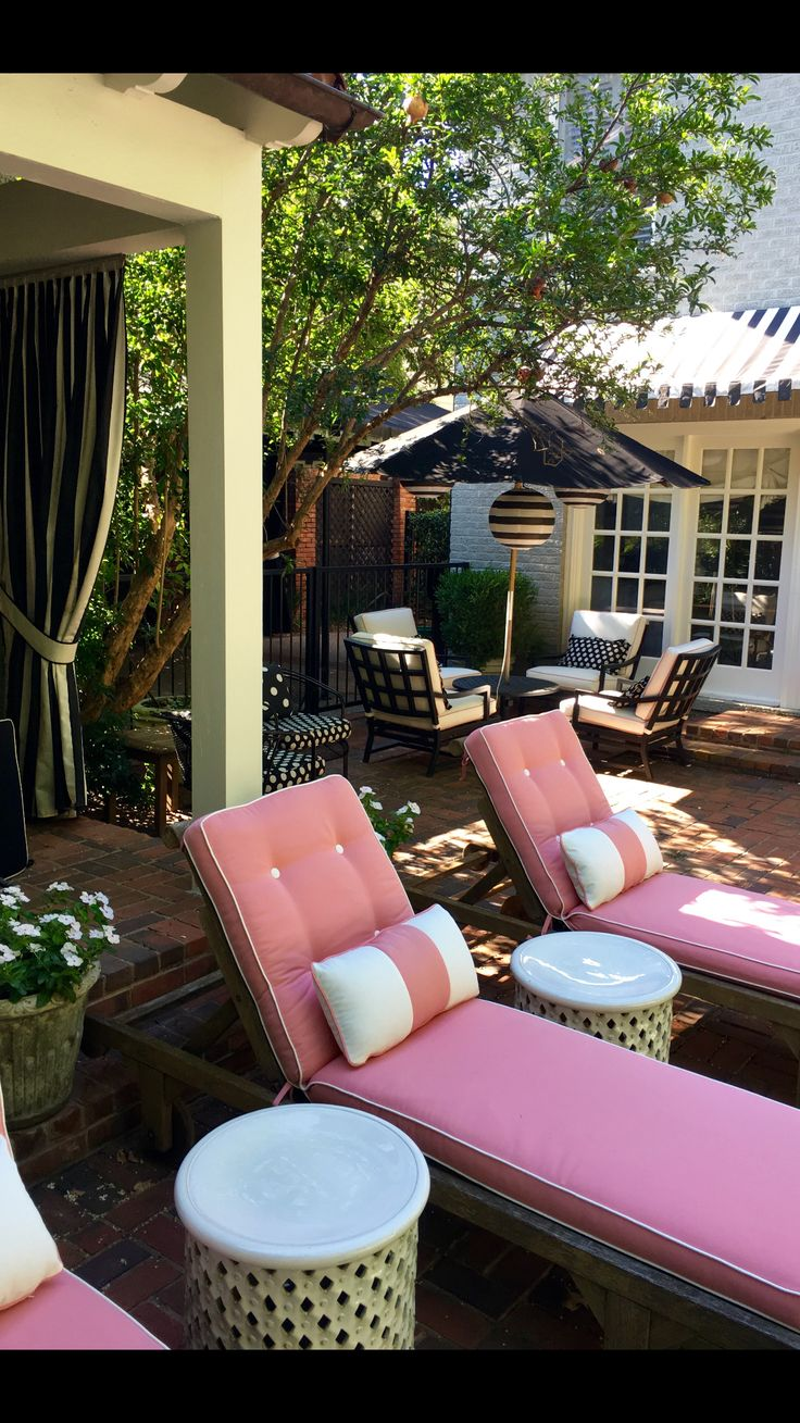 Delightful Our Pink Outdoor Cushions Now That Boys Have Left The Nest.
