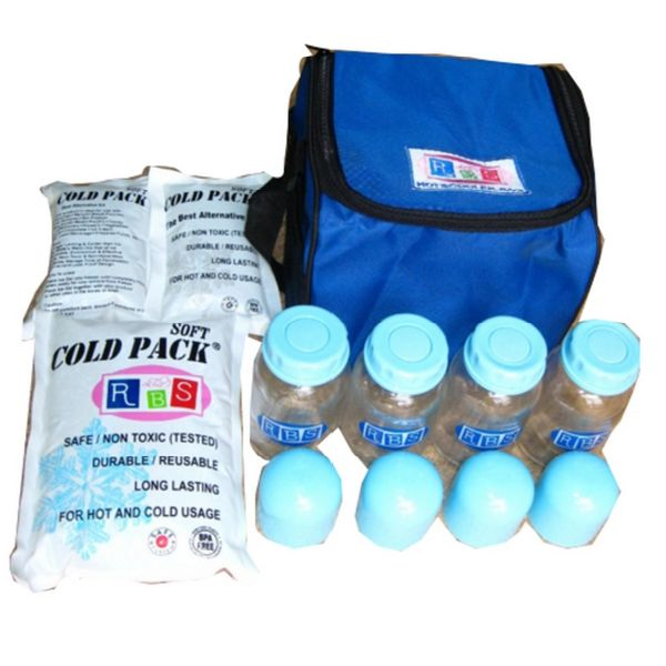 Paket Cooler Bag RBS With 4Glass Bottle Blue - http://www.adorababyshop.co/?post_type=product&p=25813