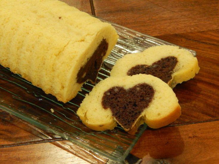 Szíves Valentin napi kevert süti