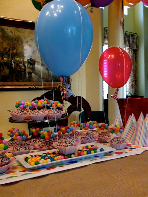"Balloon Birthday Theme....totally considering doing a balloon ""themed"" birthday party.  Perfect way to not have a theme and have one at the same time...lol"
