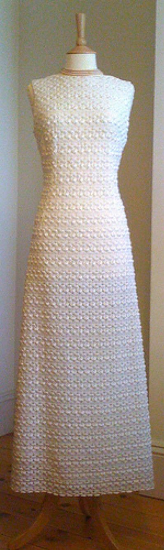 1960′s crochet wedding dress.