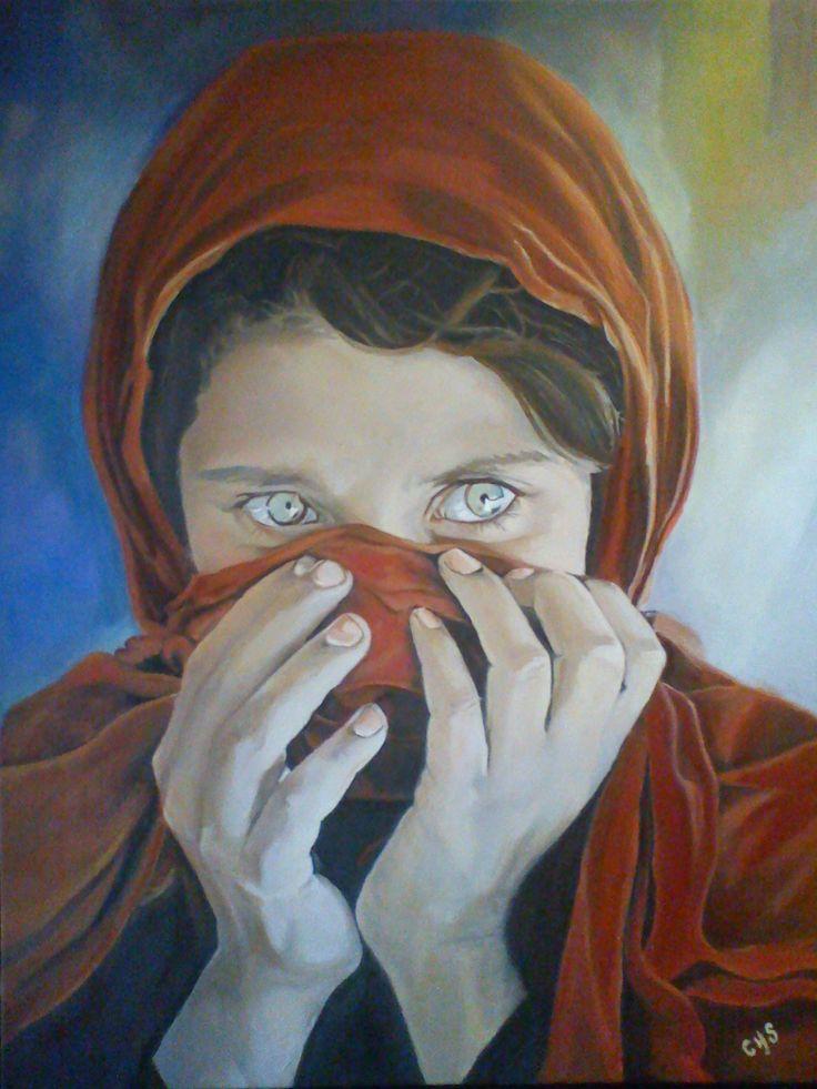 Mujer Afgana. (90*70).