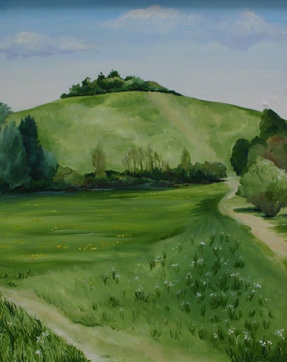 ARTFINDER: Wittenham Clumps by Charlie Davies - Apart from The Didcot Powers Station, Wittenham Clumps are the most recognisable feature of my local landscape.
