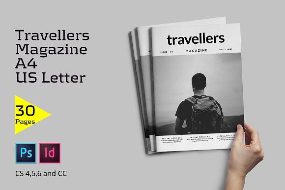 Travellers Magazine by Firtana on @creativemarket