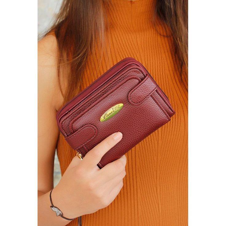 hediye | bordo cüzdan
