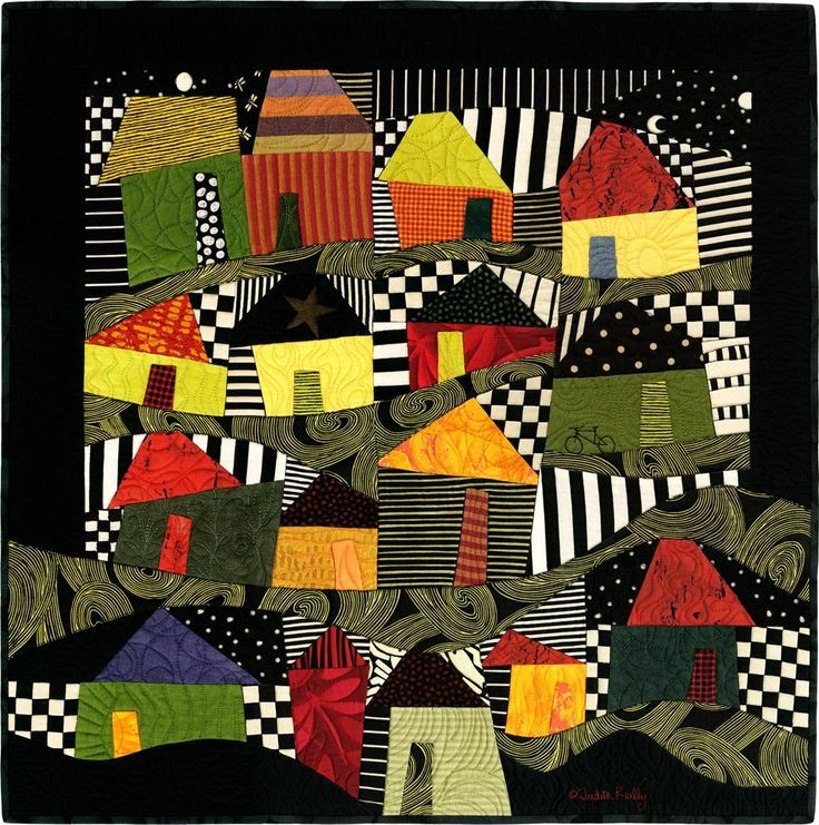Bright house quilt.