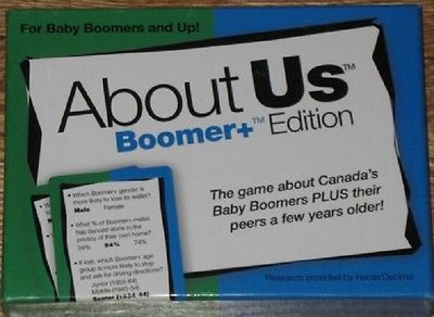 ABOUT US Boomer+ Edition Game About Canada's Boomers & Their Peers #ebay #trinital #CanadaBoomer