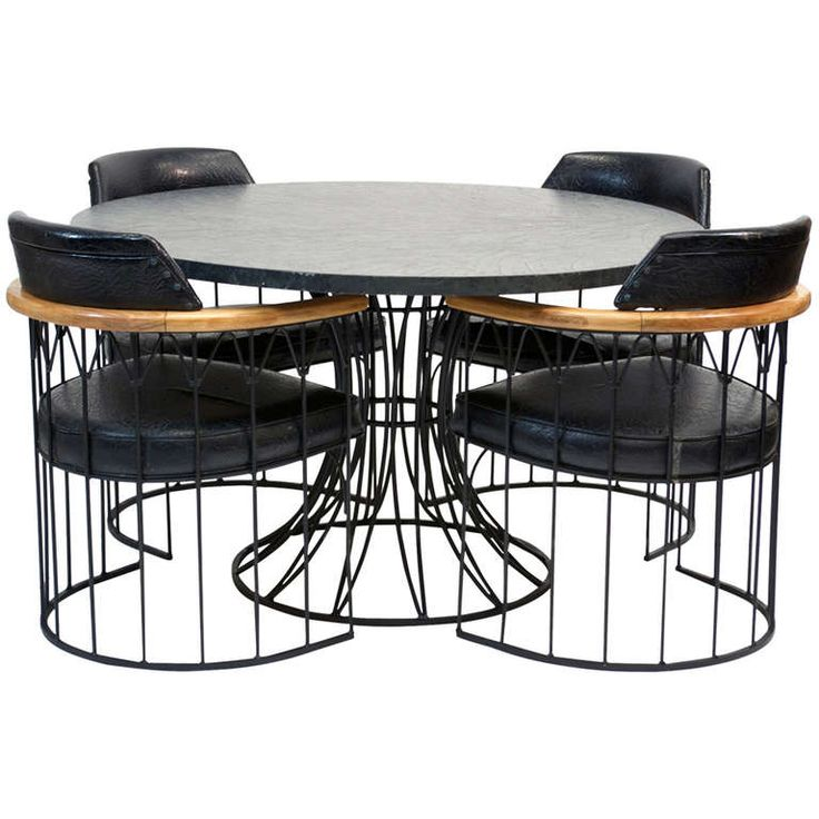 Wrought Iron Dining Set By Russell Woodard