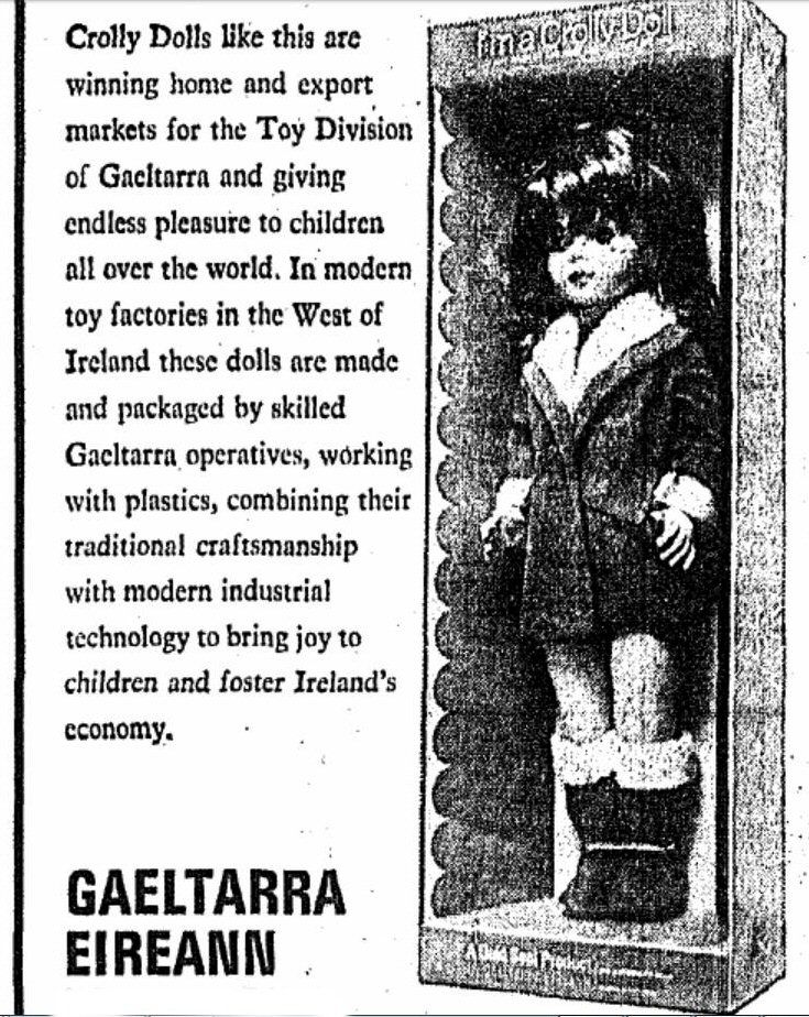 Crolly Doll in a 1968 newspaper article