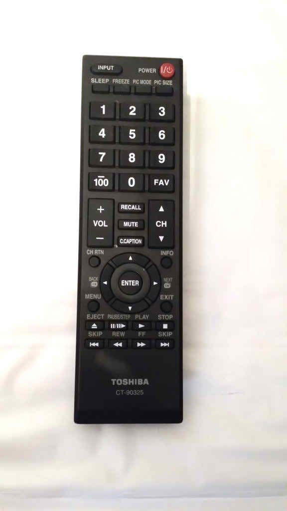 Toshiba CT-90325 TV 19AV600U 55S41U 40FT1U 40E20U 32DT1U 22AV600U Remote Control