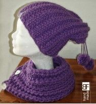 knitting cowl and hat