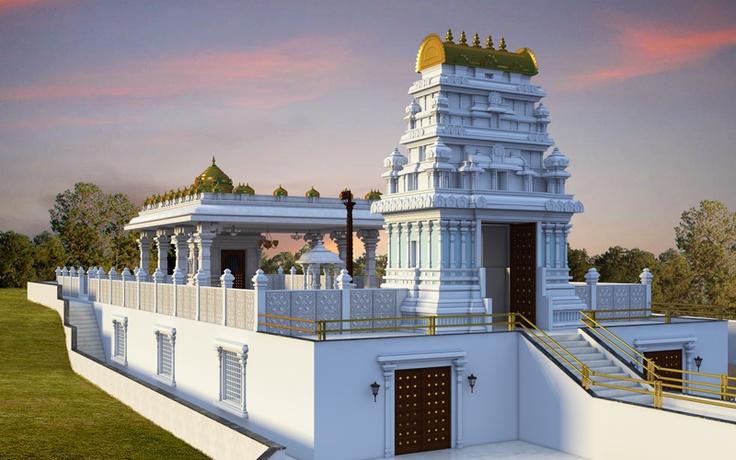 Balaji Temple Moring view at ISKCON Pune, NVCC