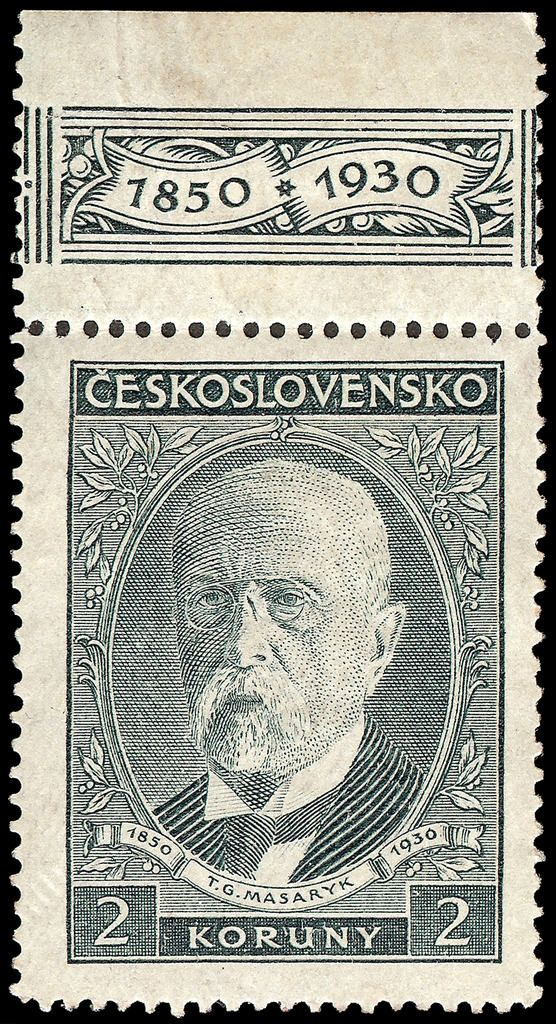 Stamp Masaryk - 2 Koruny - 1930