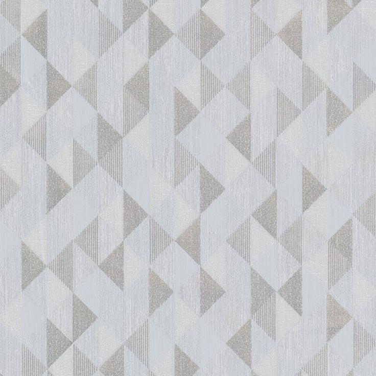 Decorline Prism Ethan Triangle Wallpaper Silver / Grey (DL20933) - Wallpaper from I love wallpaper UK