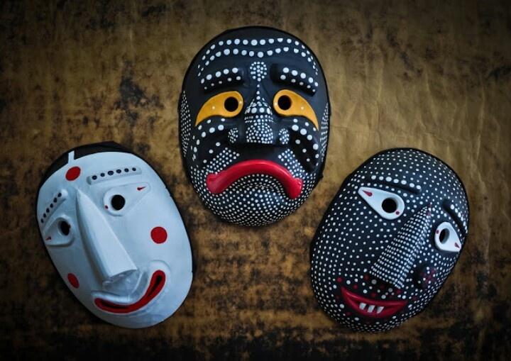 Traditional Korean dance masks.
