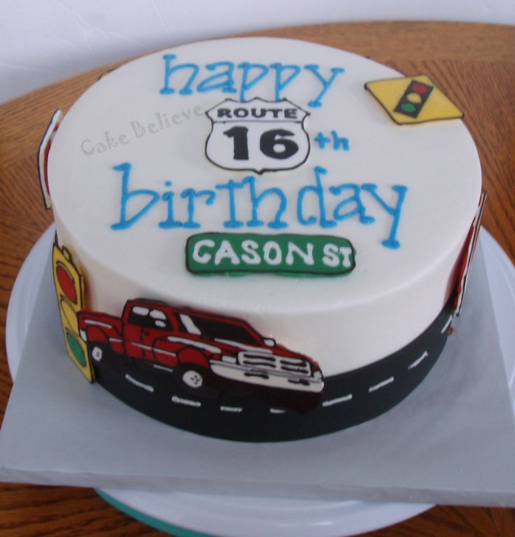 Birthday Cake Designs For 16 Year Old Boy : 29 best images about Clay s 16th Birthday on Pinterest ...