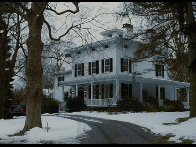 A colonial style of traditional, built in the 1860's. Picture perfect, white house, black shutters.