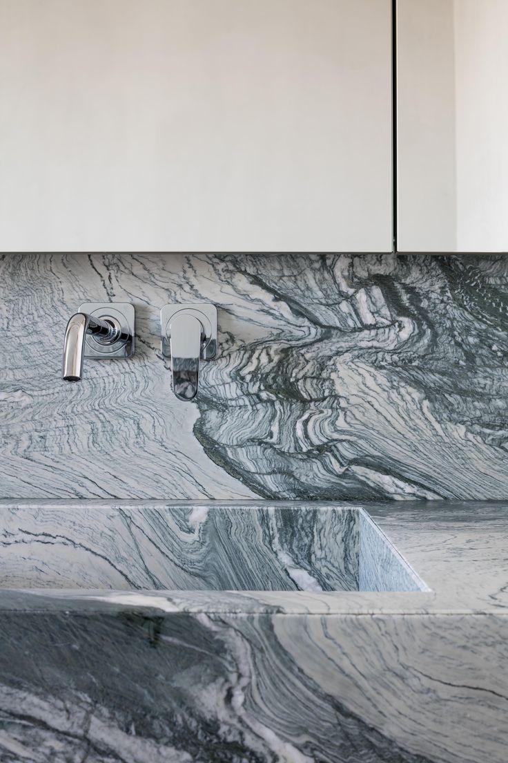Kitchen sink in verde st laurent stone - honed | by Hullebusch